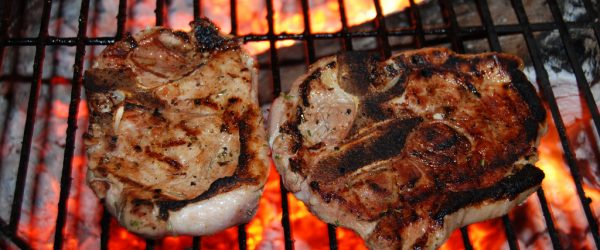 Pork Chops In Grill
