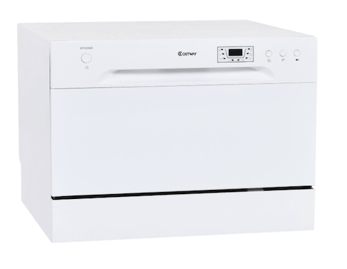 Costway-Countertop-6-Place-Setting-Dishwasher-White-min