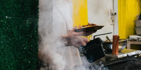 Person smoking food