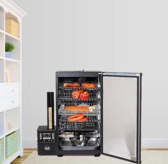 masterbuilt electric smoker interior