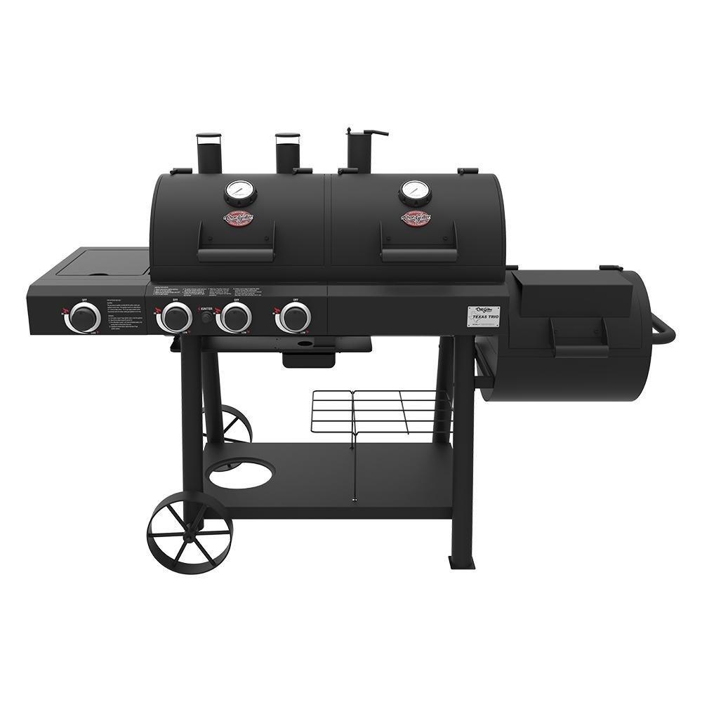 Char-Griller Texas Trio 3-Burner Dual Fuel Grill