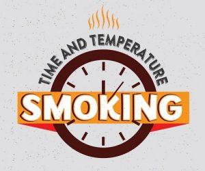 Electric smoker smoking times & temps chart