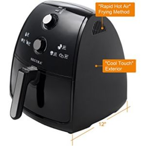 Secura 4 Liter Extra Large 1500 Watt Electric Hot AirFryer