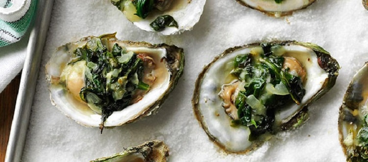 Smoked Oysters Rockefeller